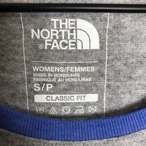 The North Face Tops - THE NORTH FACE- Grey / Blue Raglan T-Shirt